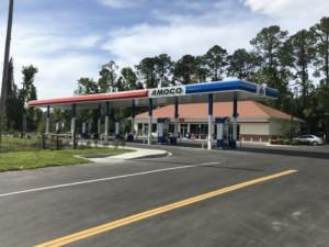 First Amoco Branded Gas Station in Jacksonville Florida Pecan Park Road