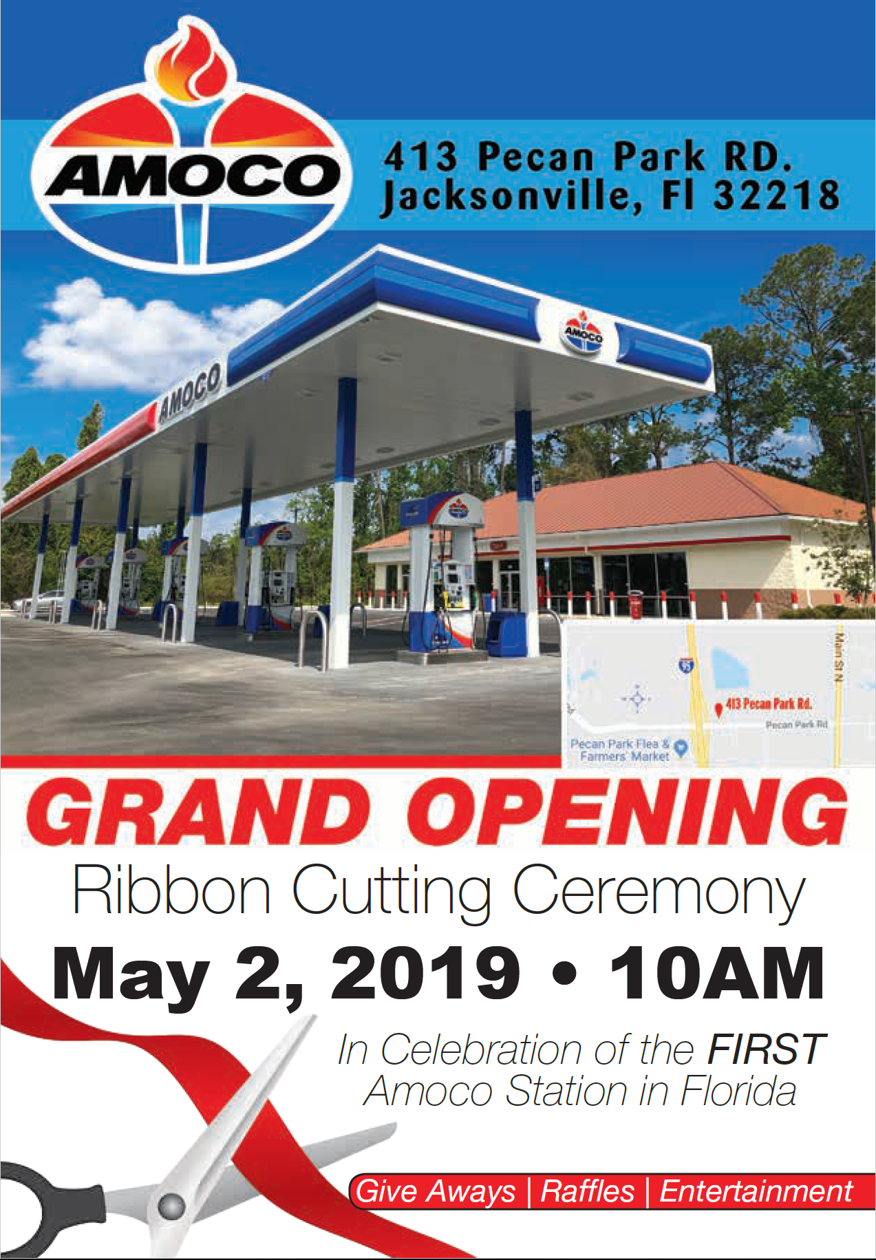 Grand Opening for First Amoco Branded Fueling Station in Florida May 2, 2019